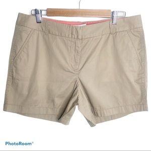"J.Crew 5"" chino shorts size 12"